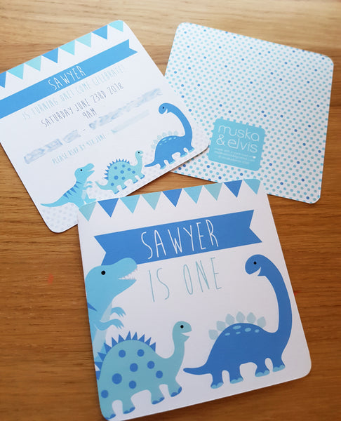 Dinosaur Custom Party Invite