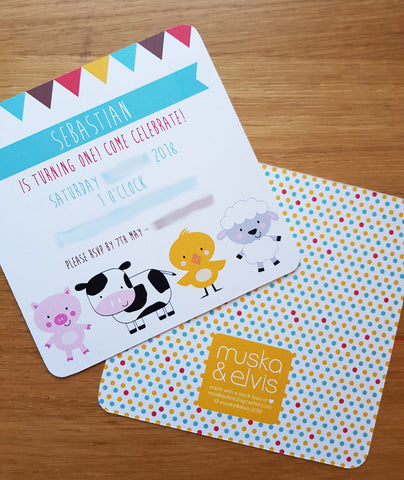 Farmyard Custom Party Invite