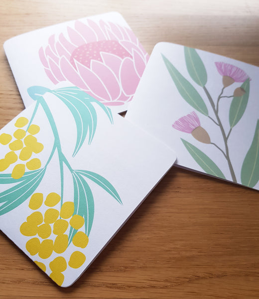 Native Floral Greeting Cards (single or set)