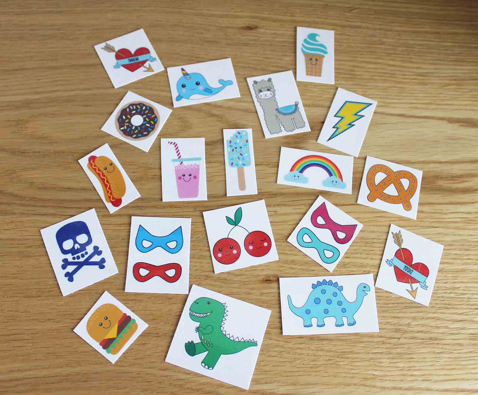 Unisex Temporary Tattoo Pack *PRE ORDER