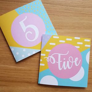 Number Birthday Cards
