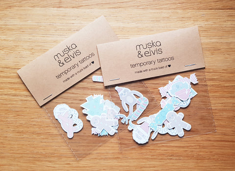 LIMITED EDITION Christmas Temporary Tattoo Pack *PRE ORDER (free shipping in Aust)