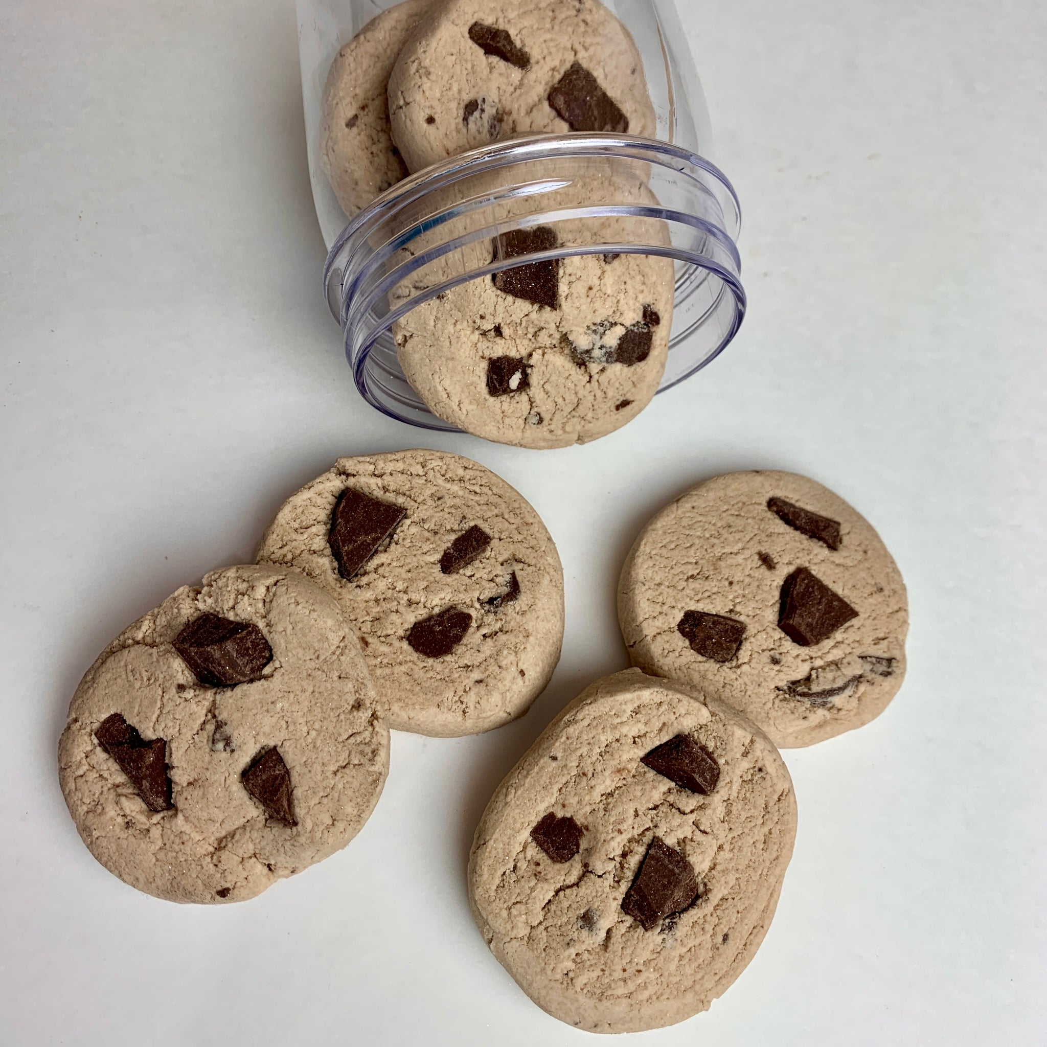 Chocolate Chip Cookie Bubble Bars in a Jar