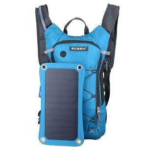 TIPITASTIC Blue Solar Charger And Hydration Backpack
