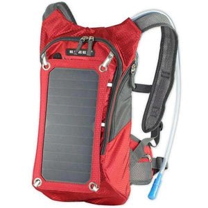 TIPITASTIC Red Solar Charger And Hydration Backpack