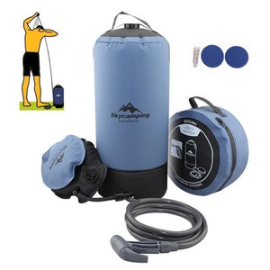 TIPITASTIC Gray Outdoor Inflatable Shower