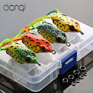 TIPITASTIC Soft Frog Fishing Lures, 4pcs Box