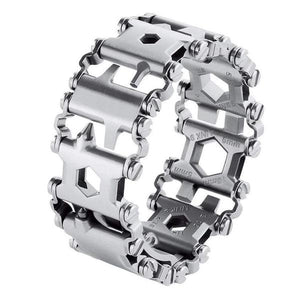 TIPITASTIC Slim Black 29-IN-1 Stainless Steel Multi-Functional Tool Bracelet [2 Variants]