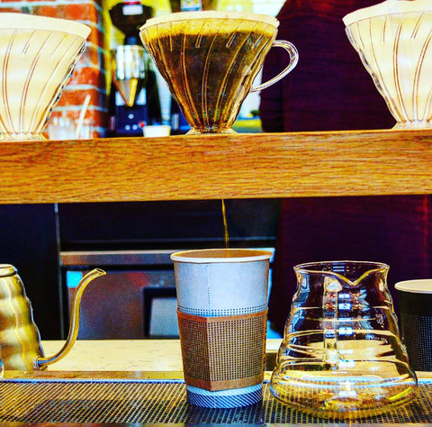 Brewing Cone Used to Brew Coffee in Cafe