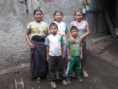 Elba also helped this family in Guatemala. Their mother died when the eldest daughter was only 4 years old, and the father works in the coffee plantations.