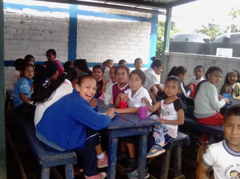Elba supports a small school called Palo de Campana in Santa Ana El Salvador