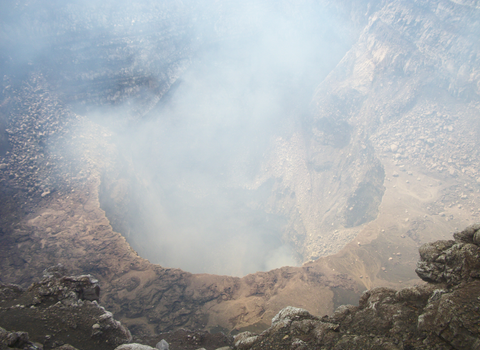 Elba took this picture looking down into the Masaya volcano in Nicaragua.