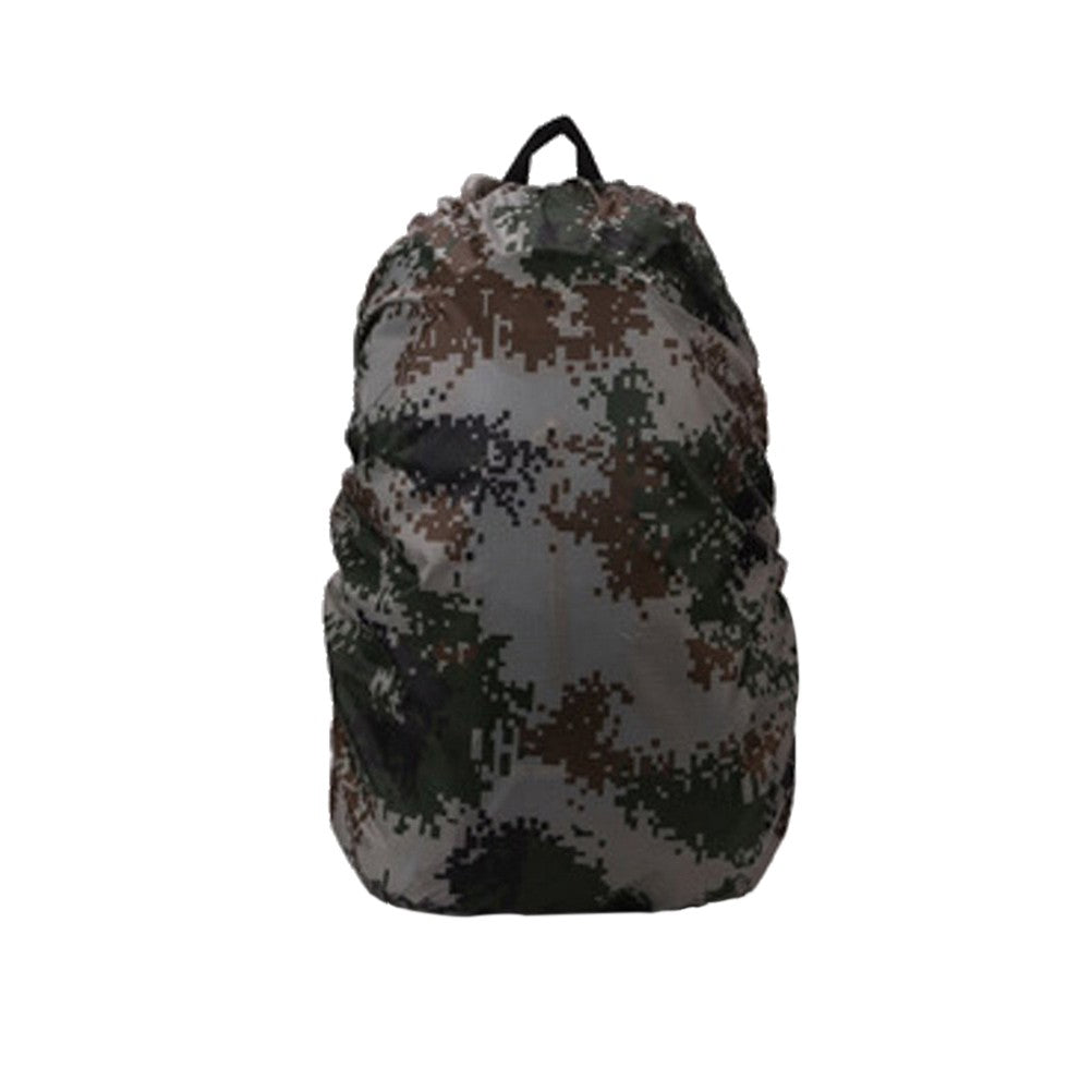 60L Foldable Outdoor Camping Hiking Waterproof Dustproof Travel Backpack Rucksack Rain Cover Protector (Camouflage)