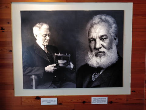 Alexander Graham Bell and Thomas Watson on Display in Community Phone's Cambridge location