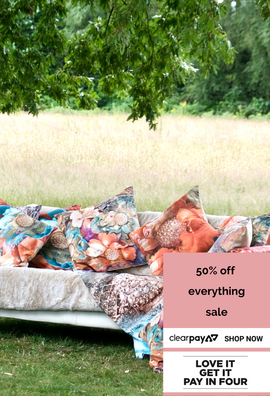 Renewal Sharon White Art Queen of Cushions 50% Off Sale