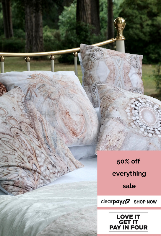 Trust Sharon White Art Queen of Cushions 50% Off Sale