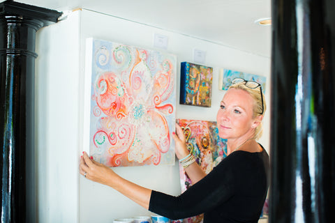Sharon White Artist in the studio