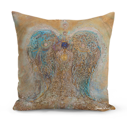 Sharon White Art Floor Cushion Ascension