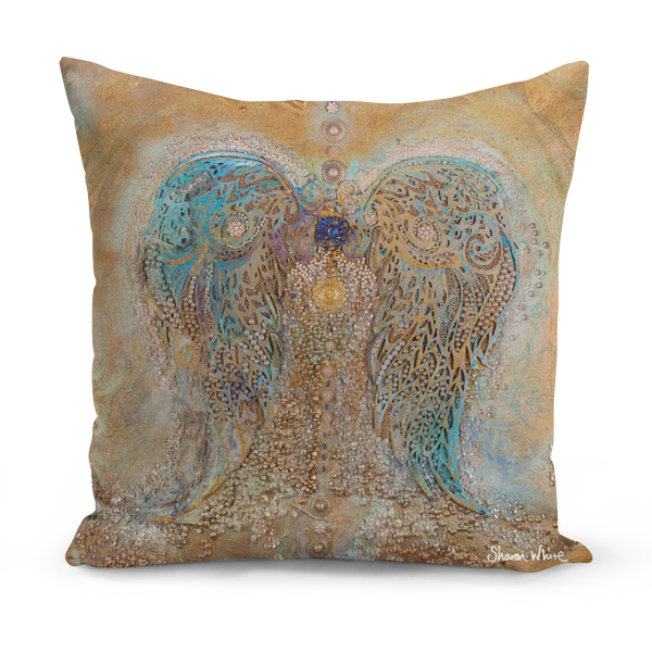 Sharon White Art Floor Cushion Ascension large pillow cushion sharon white art