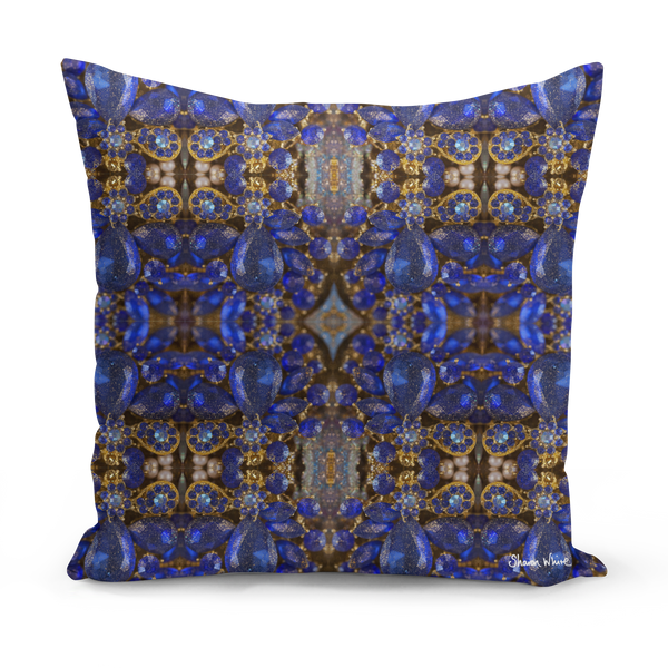Sharon White Art Cushion medium large and floor cushion