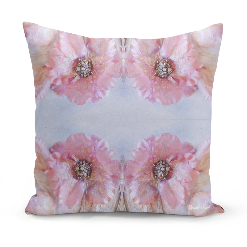 Sharon White Art Medium Cushion pink pillow cushion sharon white art