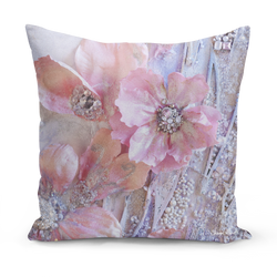 Sharon White Art pretty pink medium cushion