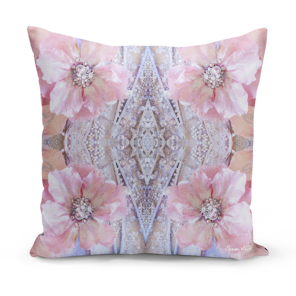 Sharon White Art medium pink cushion small and large cushions