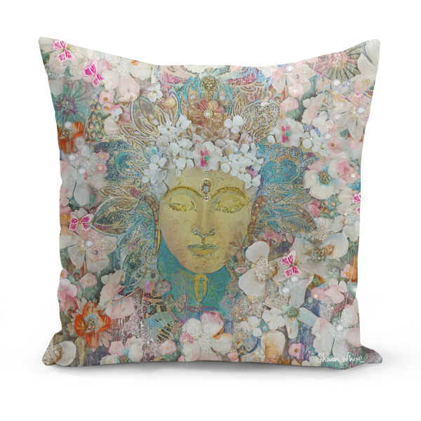 Sharon White Art Buddha Cushion