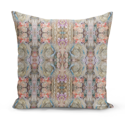 Sharon White Art Pretty n Pink floral cushion