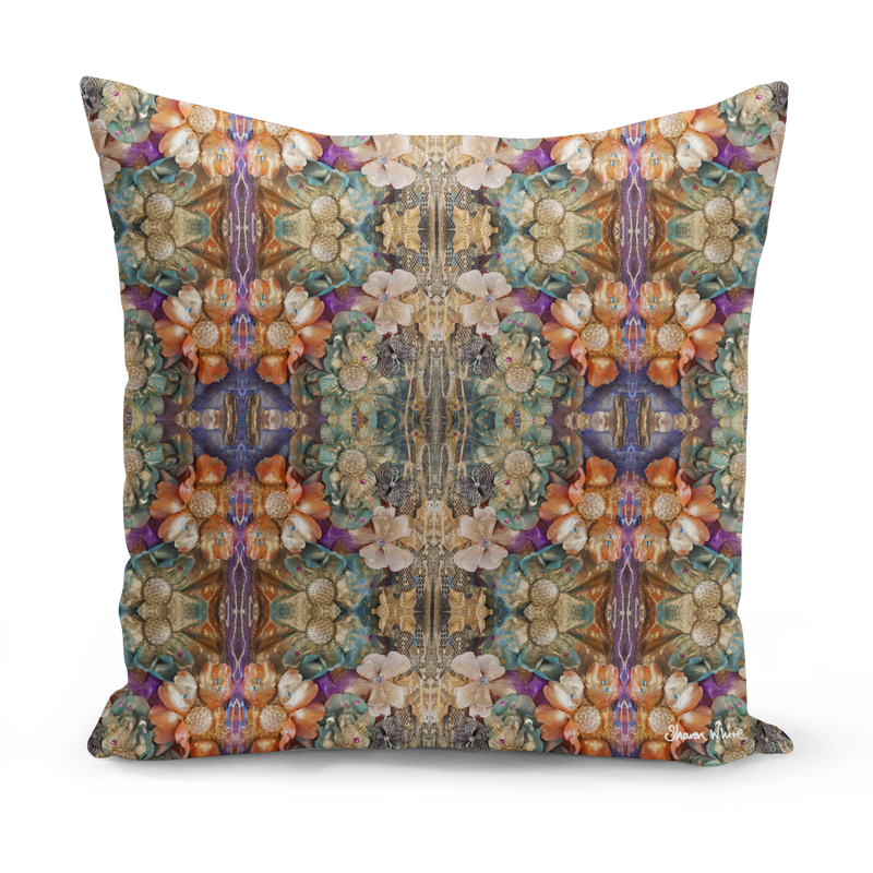 Floral vintage cushion in small medium and extra large floor cushions