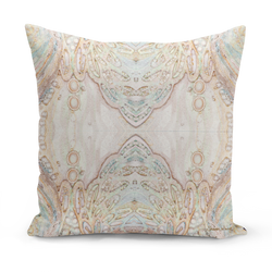 Sharon White Art gold medium cushions