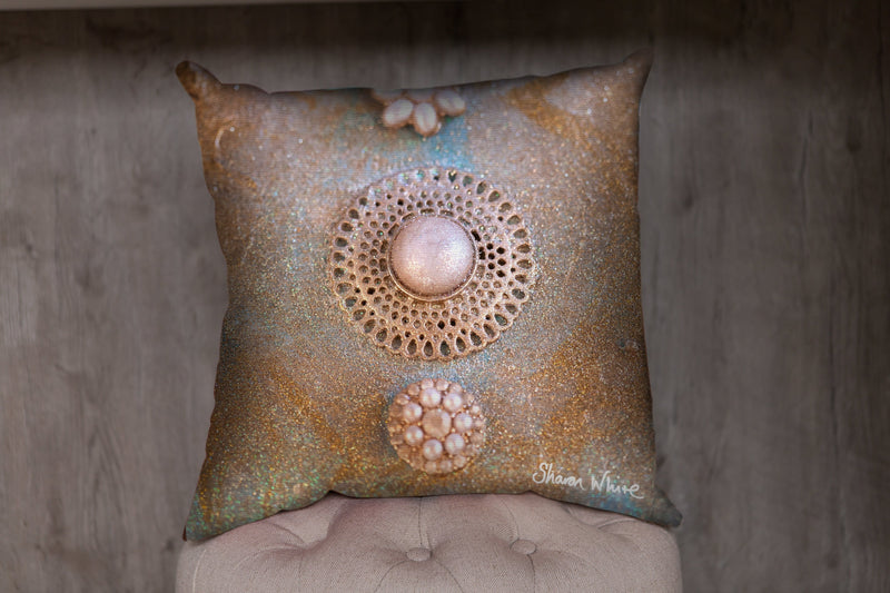 Gold and Pearl Cushions to Match Bed Runners