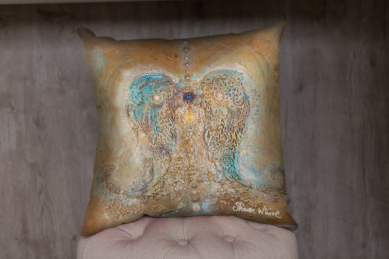 Angel Wings Bed Runner and Cushion