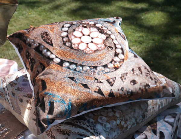 pearl  pillow cushion sharon white art