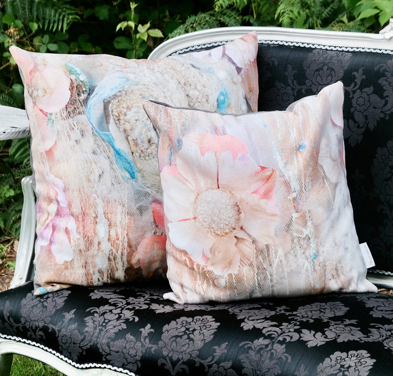 pink and gold pillow cushion sharon white art