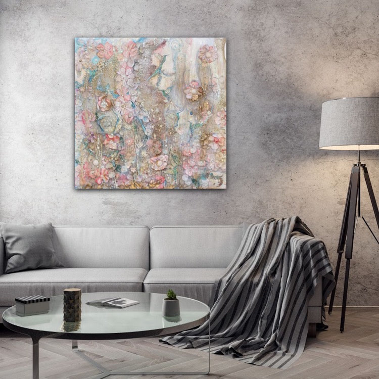 Lightness of Being Sharon White Art Large Canvas Wall Art Abstract modern abstract wall art