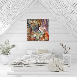 Renewal Sharon White Art Large Canvas Wall Art Abstract modern abstract wall art