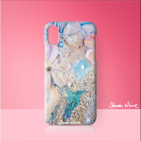 Sharon White Art Phone Case Lightness of Being Tranquil