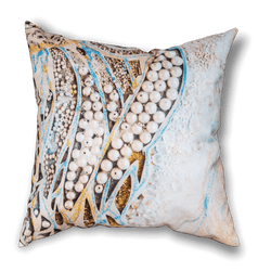 Blue and Gold Cushion