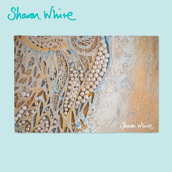 Sharon White Art Ascension Place Mats Asymmetric Pearl