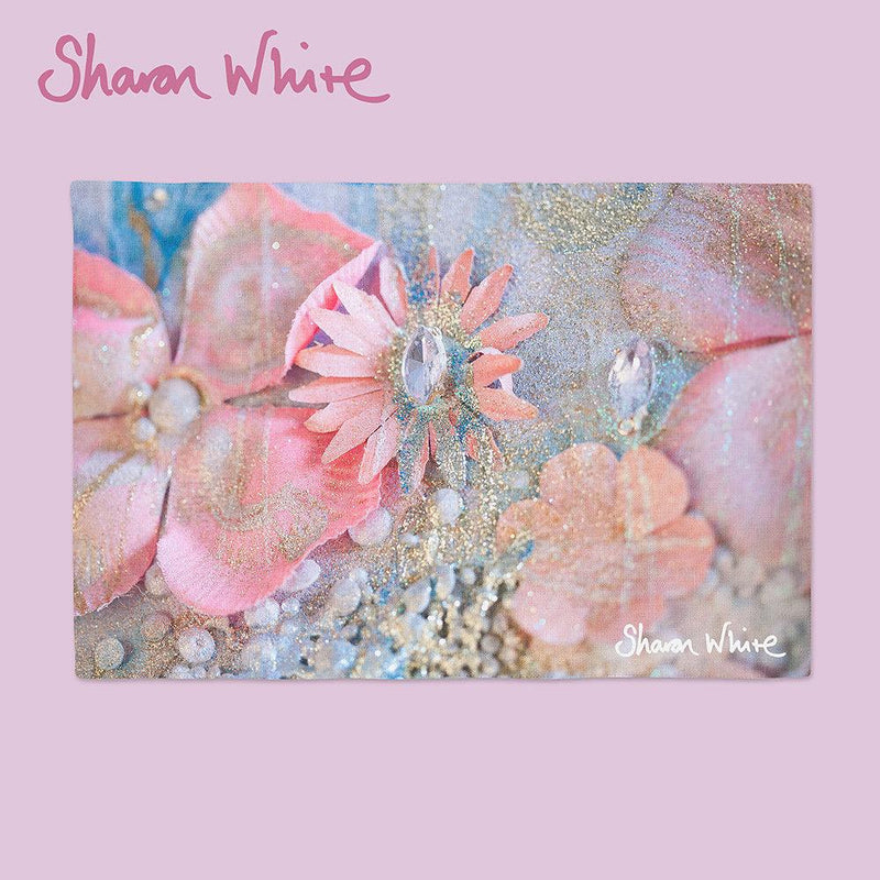 Sharon White Art Lightness of Being Place Mats Arabian Pink