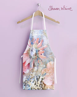 Sharon White Aprons Lightness of Being Range - Arabian Pink