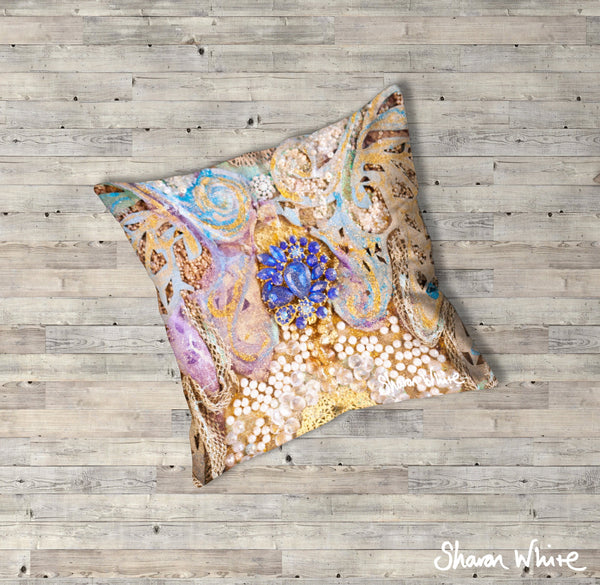 Sharon White Art Ascension Floor Cushions Timeless
