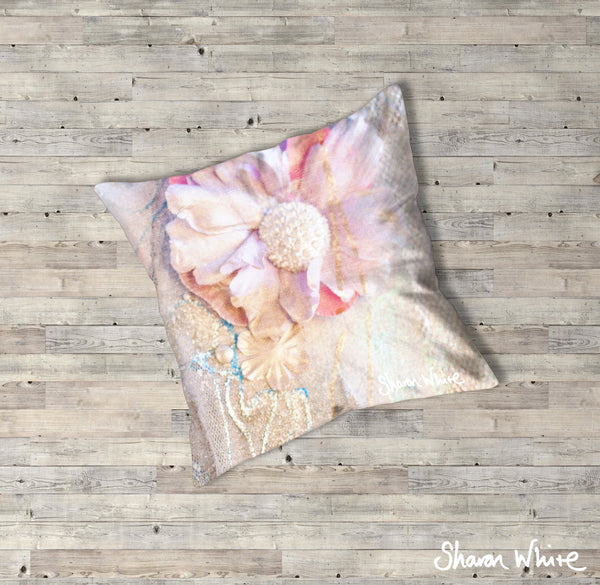 Sharon White Art Lightness of Being Floor Cushions Delicate Love