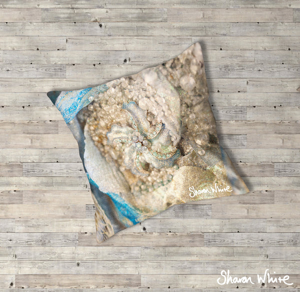 Sharon White Art Lightness of Being Floor Cushions Diamond Cluster