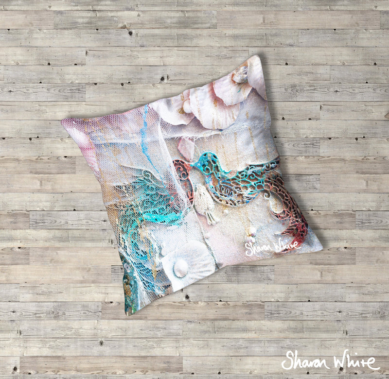 Sharon White Art Lightness of Being Floor Cushions The Kiss