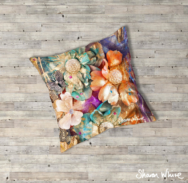 Sharon White Art Renewal Floor Cushions Cluster