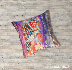 Sharon White Art Renewal Floor Cushions Flowers
