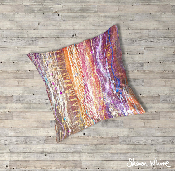 Sharon White Art Renewal Floor Cushions Fuzzy Sequence