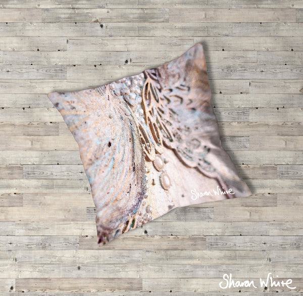 Sharon White Art Trust Floor Cushions Believe
